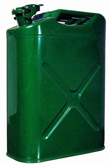 20 Litre METAL JERRY CAN DIESEL OIL FUEL TRANSPORT PETROL CAN